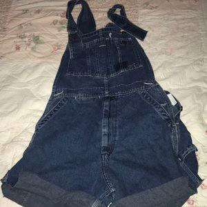 Pants - denim overall shorts